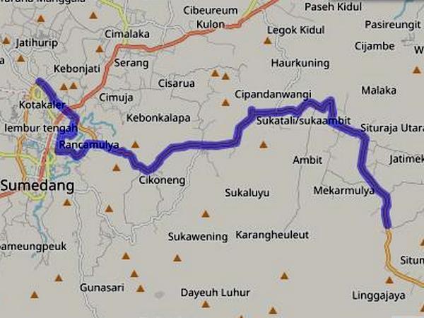 Jalur Angkot 06 Terminal Ciakar - Situraja