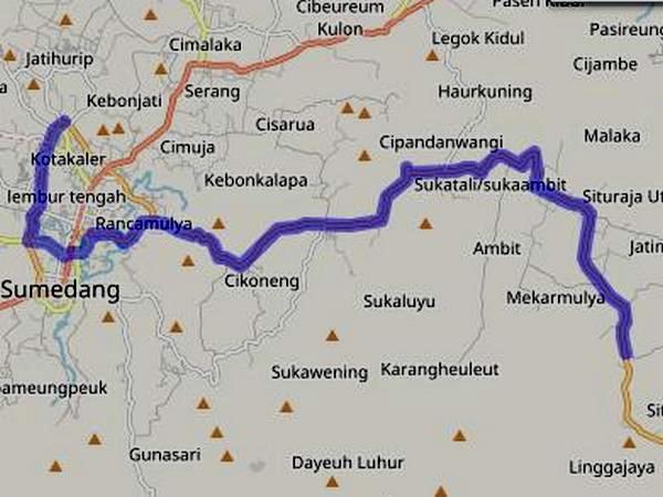 Jalur Angkot 06 Situraja - Terminal Ciakar