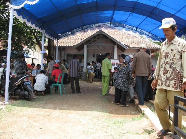 Suasana pilkades Desa Tarunajaya (foto: Desa Tarunajaya)