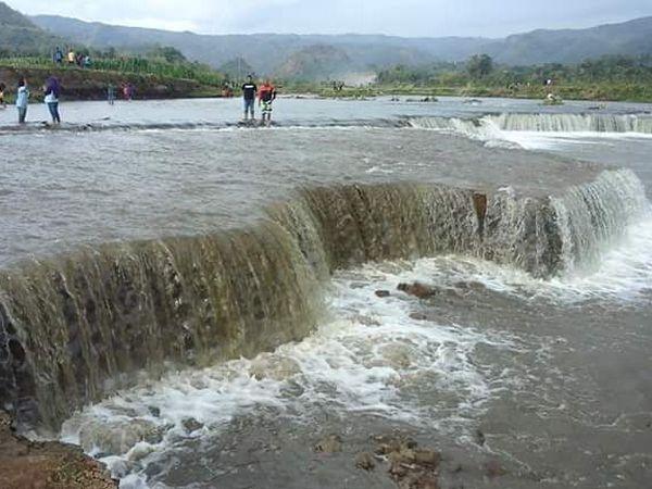 Sungai Cimanuk di bendungan Jatigede (foto: facebook Ida Sutarna)