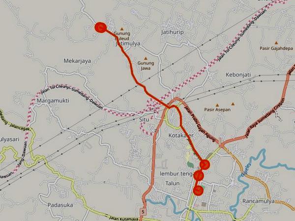Trayek Angdes 33 Sumedang - Bojong (gambar: internet)