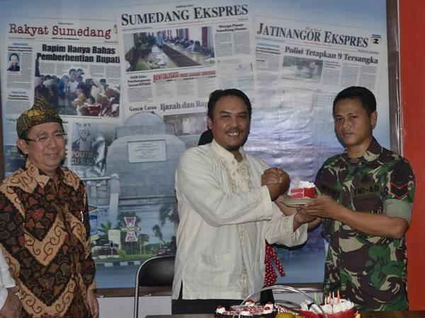 Suasana Ulang Tahun Harian Pagi Sumedang Ekspres ke-6 (foto: facebook Sumedang Ekspres)