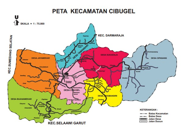 Peta Wilayah Kecamatan Cibugel