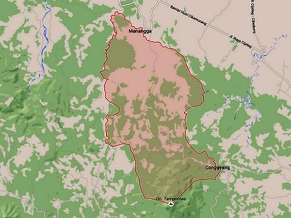 Wilayah Kecamatan Buahdua di Google Maps
