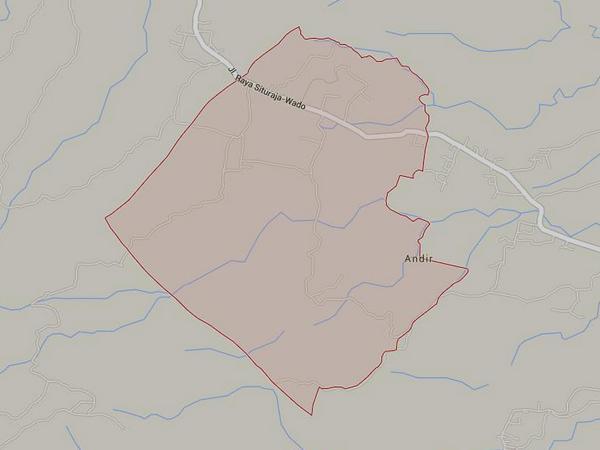 Wilayah Desa Cinangsi (gambar: Google Maps)