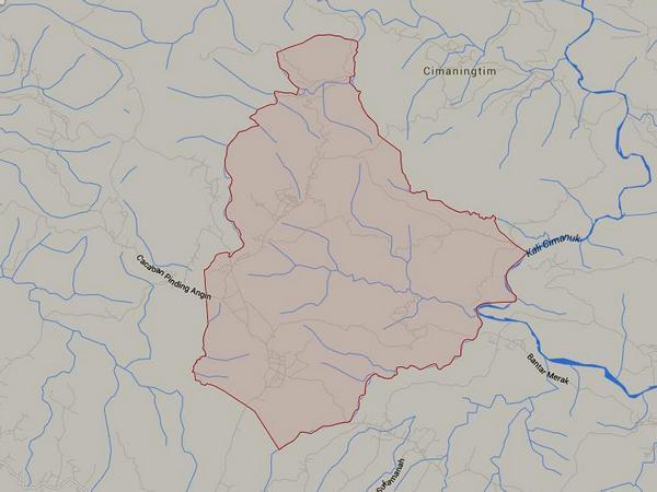 Peta wilayah Desa Cipeundeuy (gambar dari Google Maps)