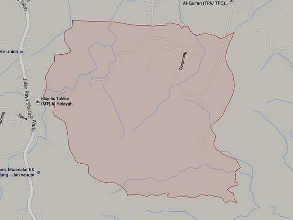 Wilayah Desa Cisitu (gambar: Google Maps)