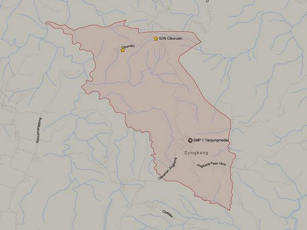 Wilayah Desa Jingkang (gambar: Google Maps)
