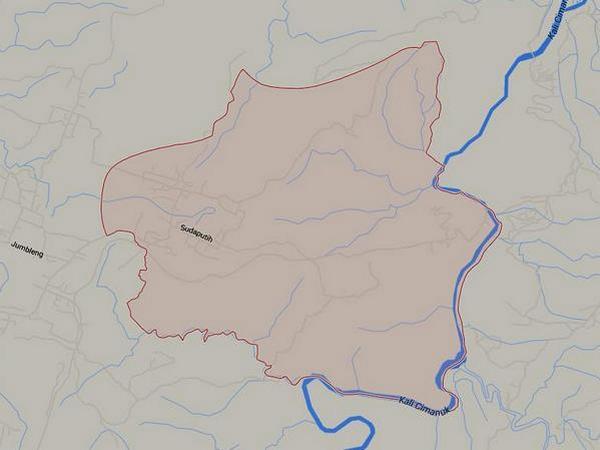 Wilayah Desa Pajagan (gambar: Google Maps)
