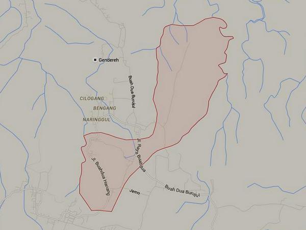 Wilayah Desa Panyindangan (gambar dari Google Maps)
