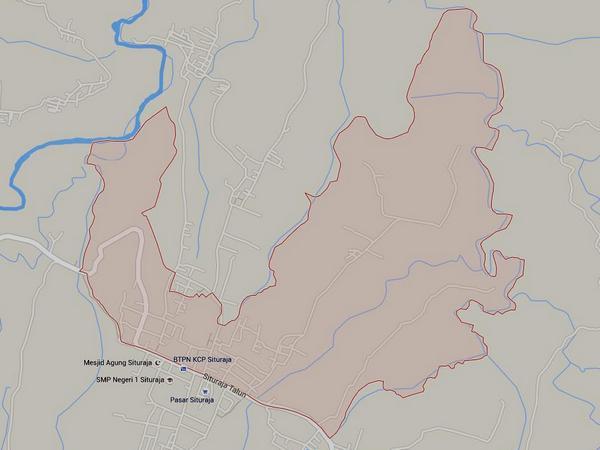 Peta wilayah Desa Situraja Utara (gambar: Google Maps)