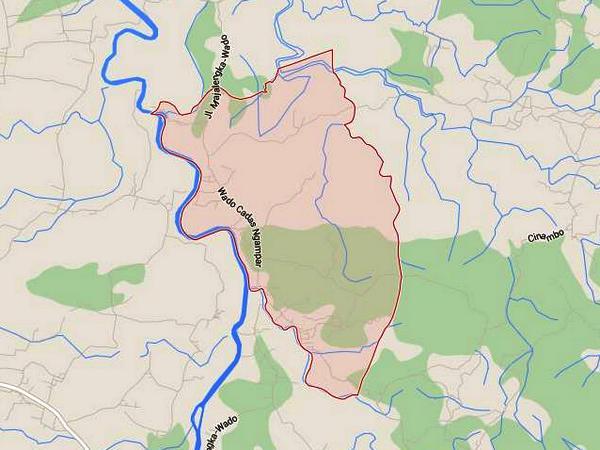 Wilayah Desa Sukakersa (gambar oleh Google Maps)