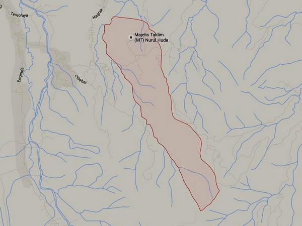 Wilayah Desa Tanjunghurip (gambar dari Google Maps)