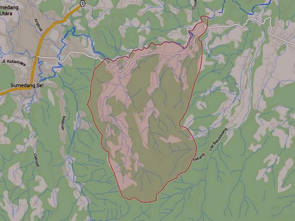 Wilayah Kecamatan Ganeas (gambar oleh Google Maps)