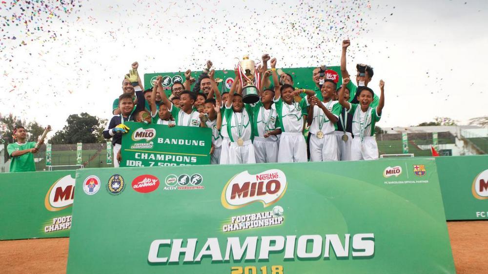 SDN Conggeang 1 Jadi Jawara MILO Football Championship Bandung 2018