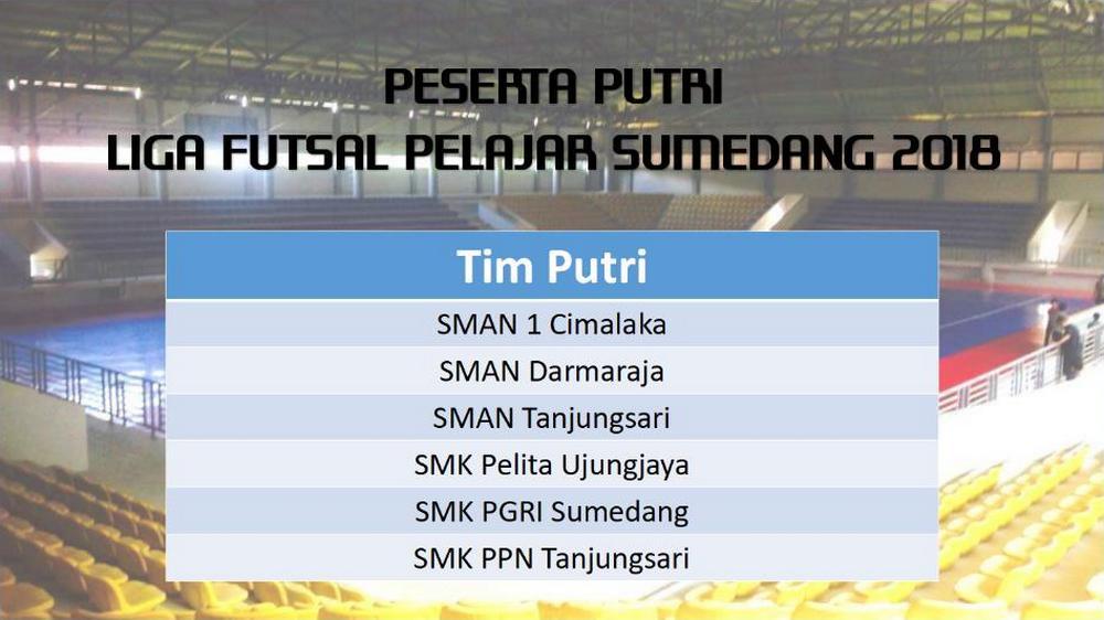 Enam Tim Ikuti Liga Futsal Pelajar Putri Sumedang 2018