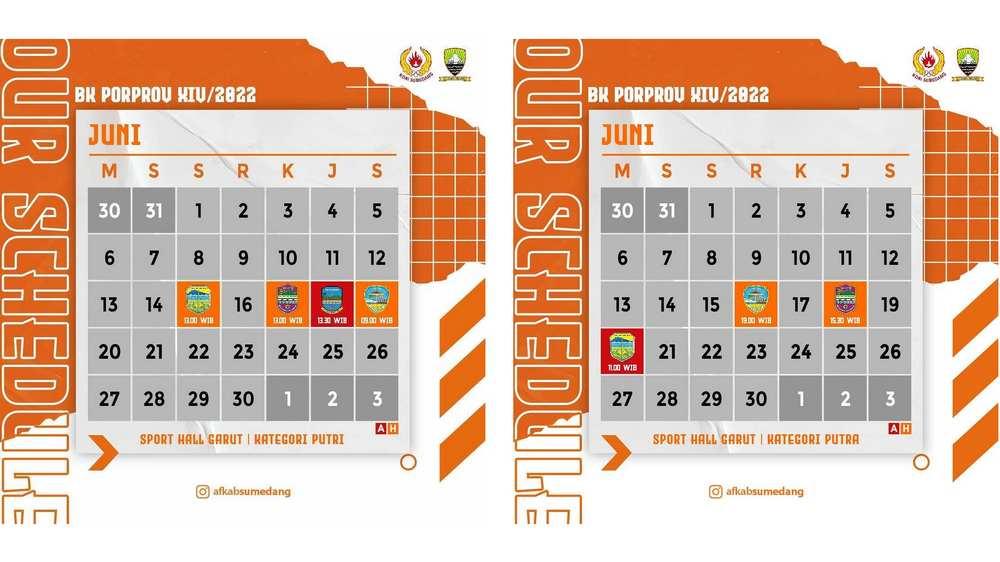 Jadwal Pertandingan tim Futsal Kabupaten Sumedang