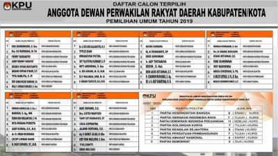 50 Orang Anggota DPRD Sumedang 2019 Terpilih